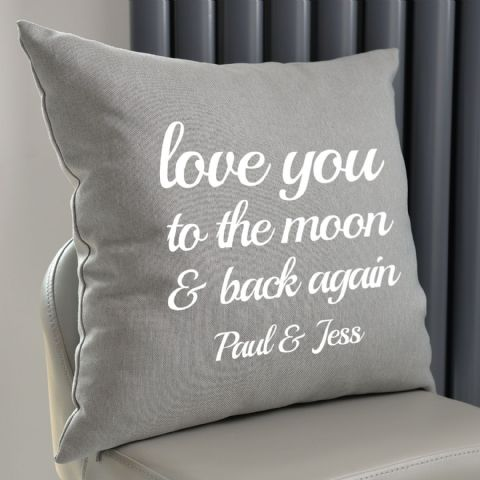 Personalised Love You To The Moon And Back Cushion